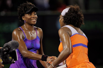 Black Tennis Pro's Venus and Serena Williams Sony Ericsson Open Semifinal