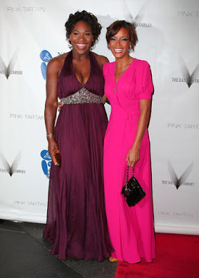 Black Tennis Pro's Serena Williams and Selita Ebanks at the 6th Annual New Yorkers for Children Spring Dinner Dance