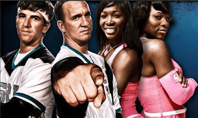 Black Tennis Pro's Venus and Serena Williams Eli and Peyton Manning Double Stuff Racing League