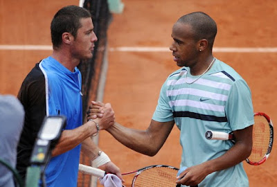 Black Tennis Pro's Josselin Ouanna and Marat Safin 2009 French Open