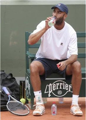 Black Tennis Pro's James Blake 2009 Roland Garros