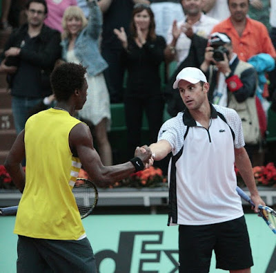 Black Tennis Pro's Gael Monfils and Andy Roddick 2009 French Open