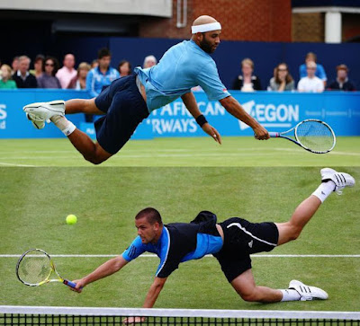 Black Tennis Pro's James Blake and Mikhail Youzhney 2009 Queens Club London