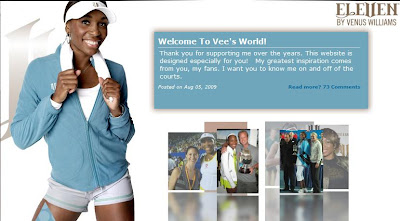 Black Tennis Pro's Venus Williams Welcome To V's World