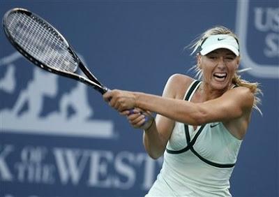 Black Tennis Pro's Maria Sharapova 2009 Bank of the West Classic Quarterfinals