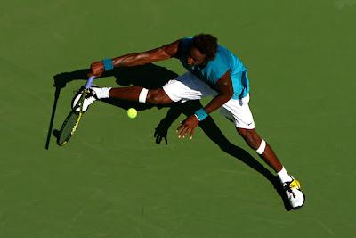 Black Tennis Pro's Gael Monfils 2009 U.S. Open Round 1