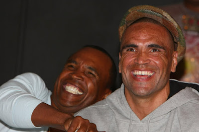 Black Tennis Pro's Sugar Ray Leonard and Anthony Mundine launch new XBox 360 game, Fight Night 4.