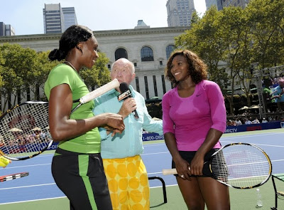 Black Tennis Pro's Venus and Serena Williams and Bud Collins DirecTV ESPN U.S. Open Experience