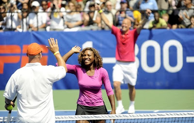 Black Tennis Pro's Serena Williams and Luke and Murphy Jensen DirecTV ESPN U.S. Open Experience
