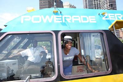 Black Tennis Pro's Venus Williams Captains Maiden Voyage Of Powerade Zero Ferry
