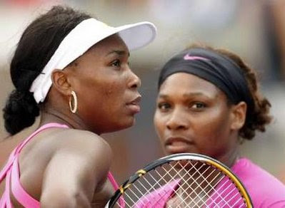 Black Tennis Pro's Venus and Serena Williams 2009 U.S. Open Doubles