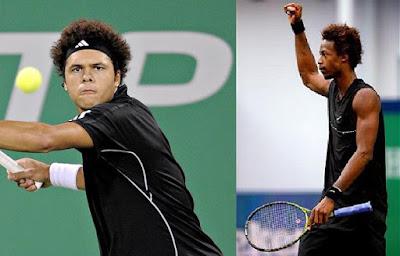 Black Tennis Pro's Jo-Wilfried Tsonga and Gael Monfils Shanghai Masters