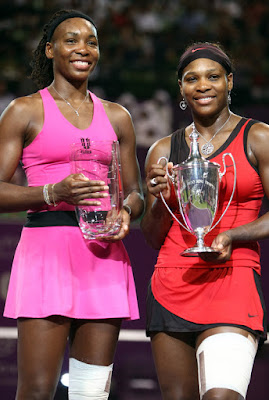 Black Tennis Pros 2009 Sony Ericsson Championships Venus and Serena Williams