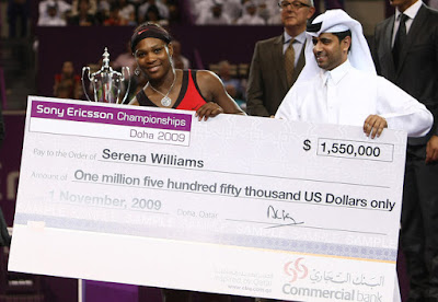 Black Tennis Pros 2009 Sony Ericsson Championships Venus and Serena Williams