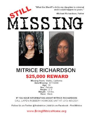 Black Tennis Pro's Still Missing, Mitrice Richardson