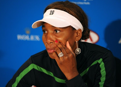 Black Tennis Pro's Venus Williams Withdraws AO Day 5
