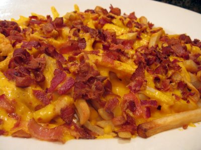 cheese fries with bacon