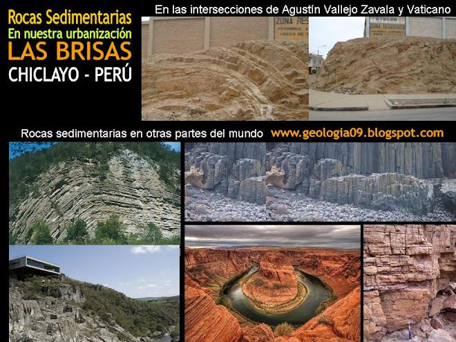 """Rocas sedimentarias En nuestra urbanización """"LAS BRISAS"""" CHICLAYO - PERÚ"""
