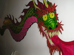 dragon-diseño sobre pared