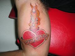 Corazon con fuego