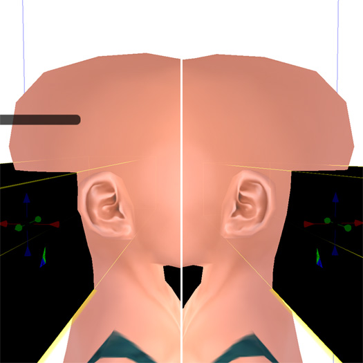 スケールと耳の位置を比較するとさらによく分かる