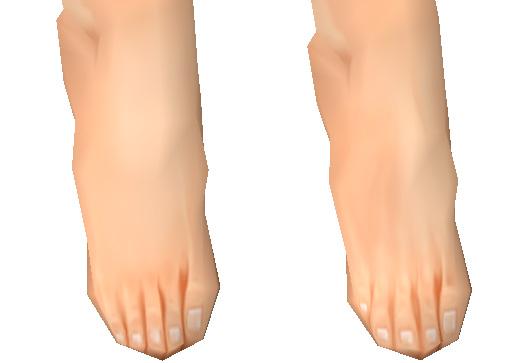 晴雪(UG版)足の甲修正比較