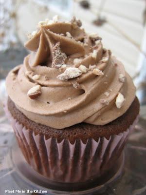 malted milk cupcake