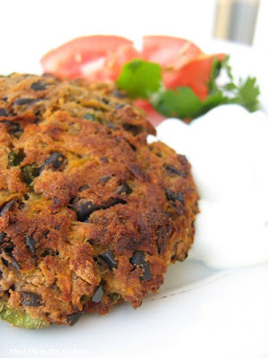 Meet Me in the Kitchen: Spicy Black Bean Cakes with Lime Cream