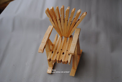 chair made with fasteners step-by-step