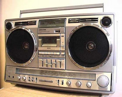 old school boombox