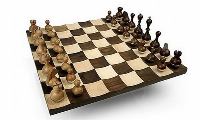 My funny cool chess boards collection pictures - Wobble chess set ...