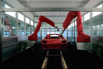 inside ferrari plant 16 Proses Pembuatan Sebuah Mobil Ferrari