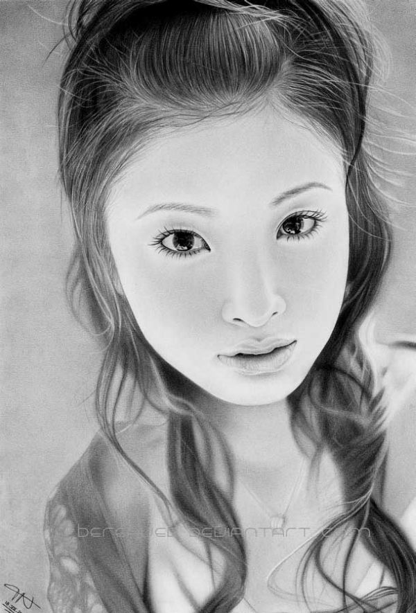 Pencil portrait drawings