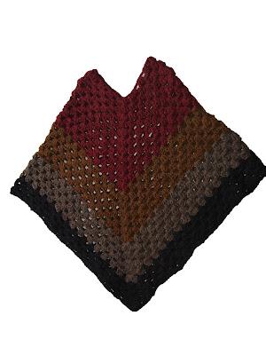 Ponchos+tejidos+a+crochet