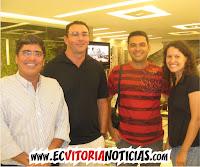 Carlos Falcão, Márcio, Pablo e Larissa