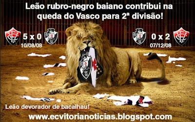 Vitória ajuda o Vasco a cair pra 2ª divisão