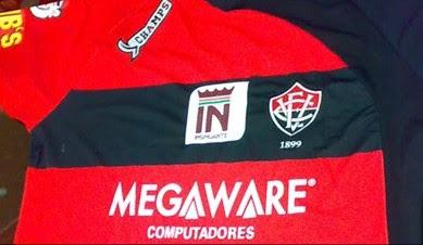 Foto Camisa do Vitória 2009 - Novo patrocinador