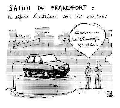 dessin presse voiture électrique