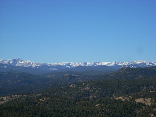 Colorado Continental Divide from Green Mountain