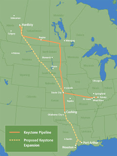 Oil Pipeline Crossing Indigenous First Nations Land in Canada
