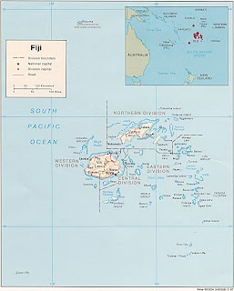 Map of Fiji Islands