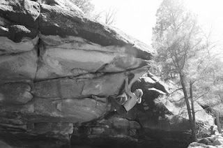 Bouldering at Apache Canyon/Deer Creek in New Mexico