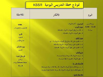 Contoh Penulisan Rph Kssr B Arab Tahun 1 2011