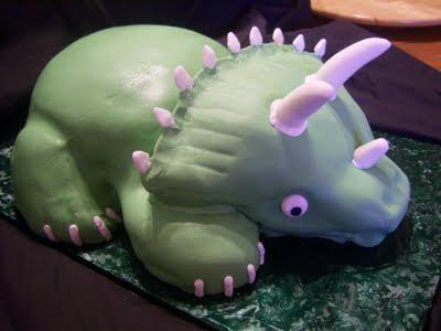 Blue Fairy Cakes 3D Dinosaur Birthday cake
