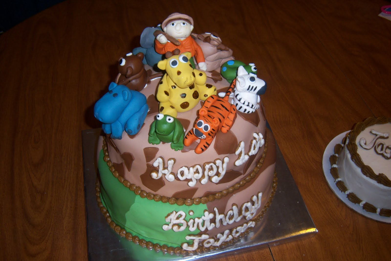 Blue Fairy Cakes Jungle Safari Birthday Cake