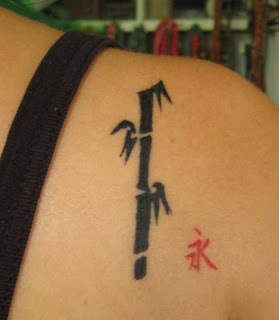 Male Tattoos With Bamboo Tattoo On The Foot And Upper Back Body Picture