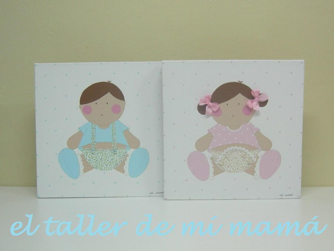 Cuadros personalizados el taller de mi mam ropa - Cuadros para habitacion bebe ...