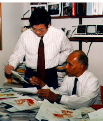 With Dr. Roscoe Brown in Office of University