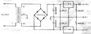 Circuit Power Supply Regulator 15v 15v