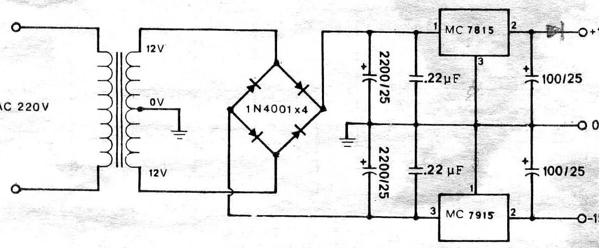 power supply circuit  circuit power supply regulator  15v